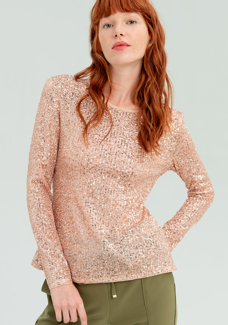 Sequin-coveblouse