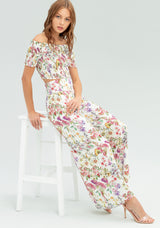 Wide leg trousers with floral pattern-FRACOMINA-FR20SP514