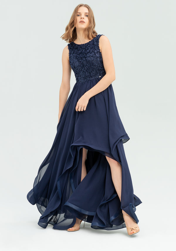 Dress with structuwaves-FRACOMINA-FR20SP626