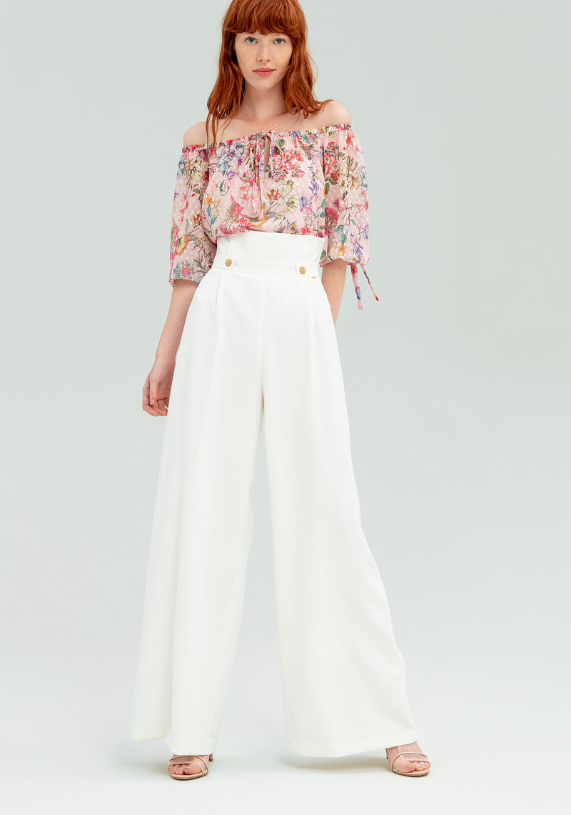 Wide leg trousers with belt-FRACOMINA-FR20SP655