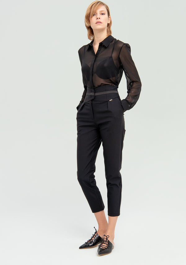 Cropped cigarette trousers-FRACOMINA-FR20SP660