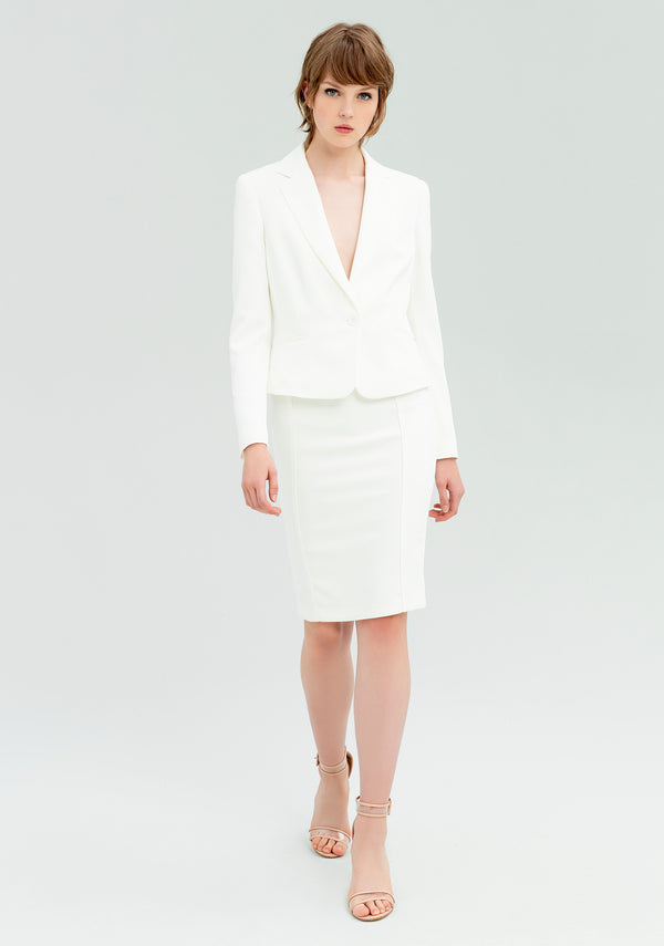 Tight blazer with pockets-FRACOMINA-FR20SP674