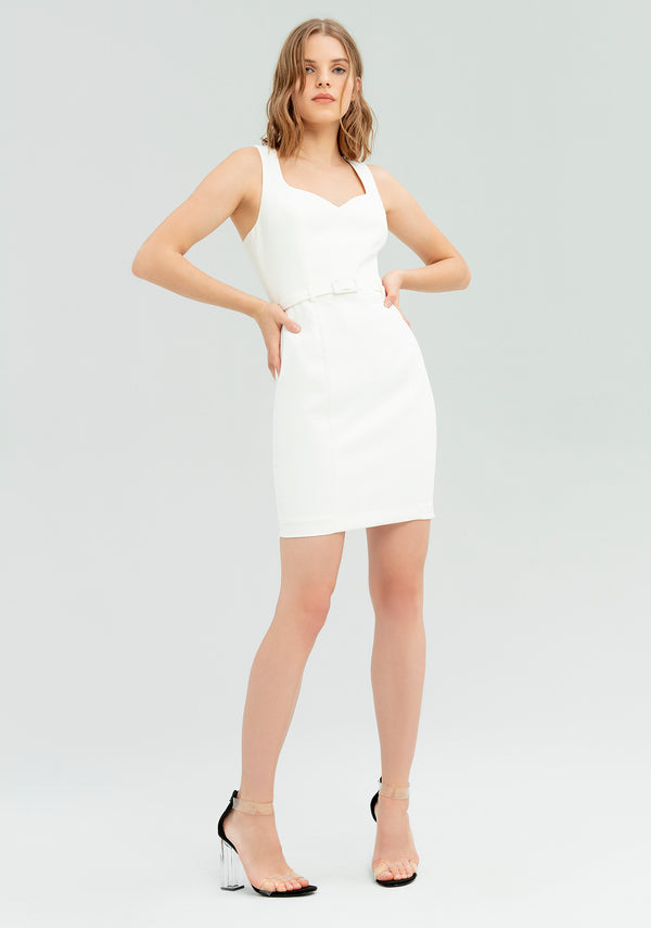 Sheath dress with belt-FRACOMINA-FR20SP677