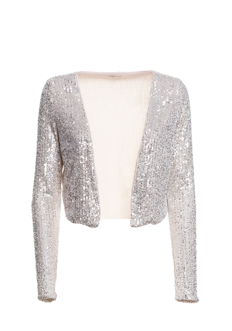 Shrug with sequins