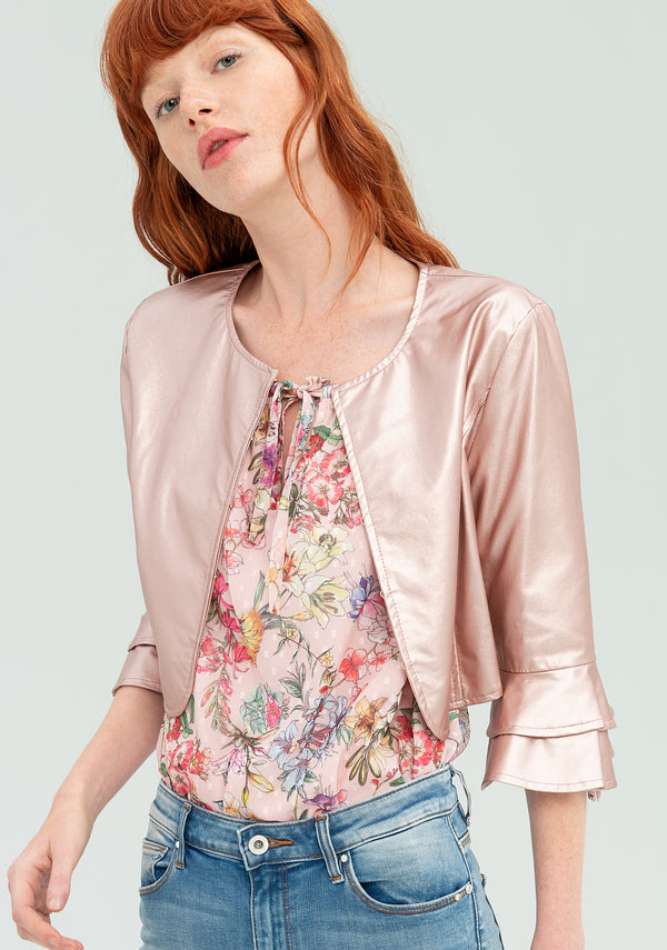 Short blazer with ruffles-FRACOMINA-FR20SP723