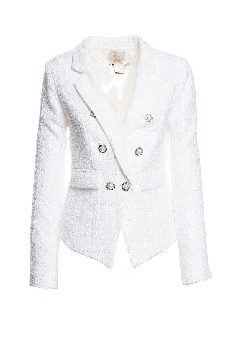 Waisted double-breasted blazer