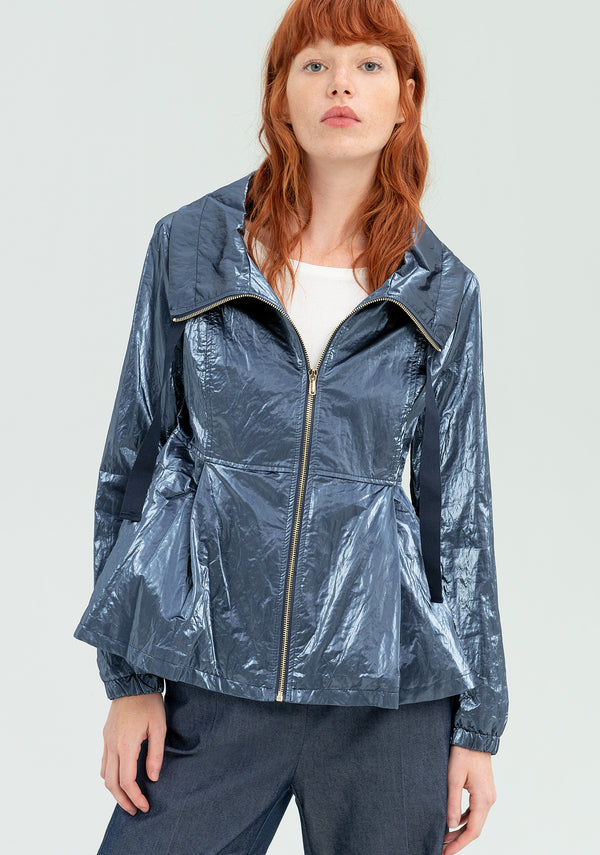 Jacket in metallic fabric-FRACOMINA-FR20SP738