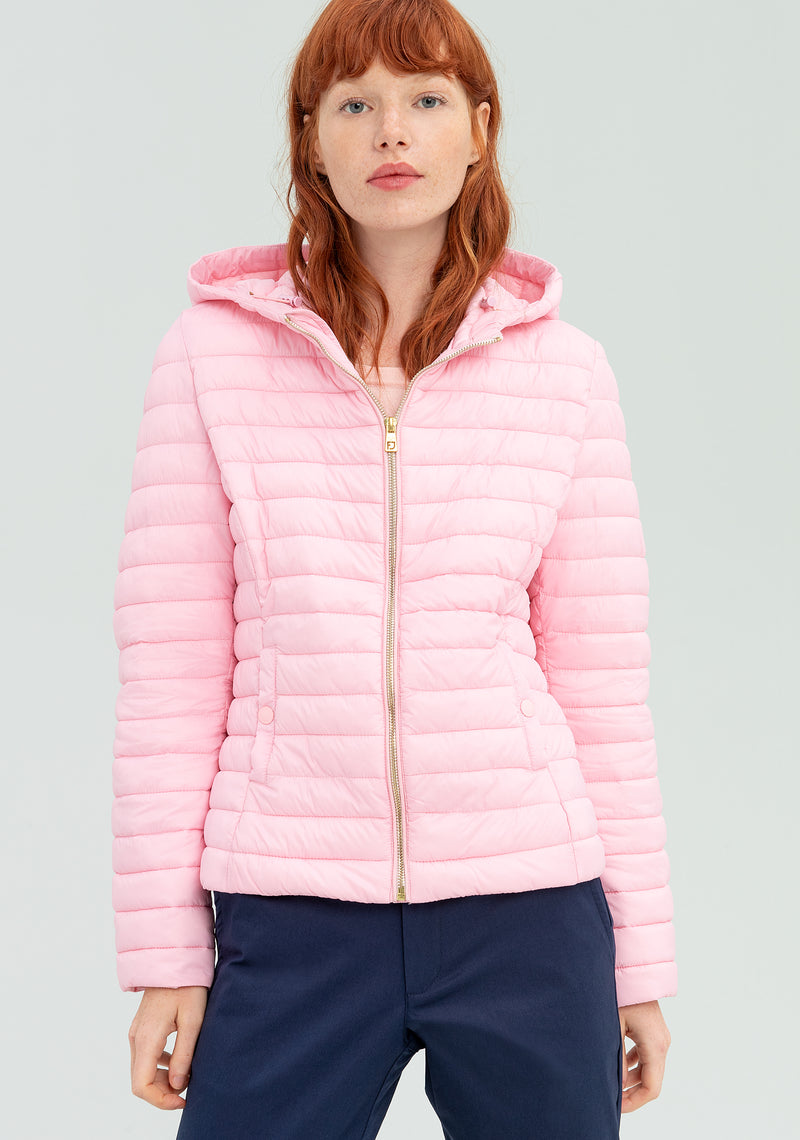 Short down jacket with hood-FRACOMINA-FR20SP742