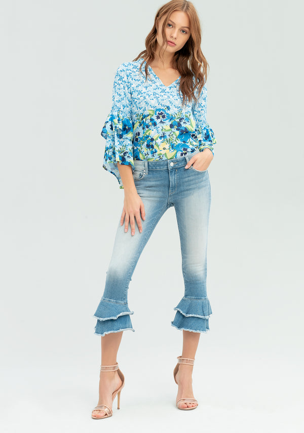 Jeans with bell-shaped hem-FRACOMINA-FR20SPJTWIGGY