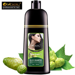 Mokeru Organic Natural Fast Hair Dye Only 5 Minutes Noni Plant Essence Black Hair Color Dye Shampoo For Cover Gray White Hair|Hair Color Mixing Bowls| |