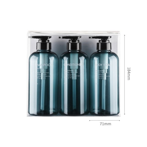 3pcs/set Soap Dispenser Bottle Bathroom Shampoo Bottle Large capacity Press Type Lotion Body Soap Empty Bottle Set 300ML/500ML|Portable Soap Dispensers