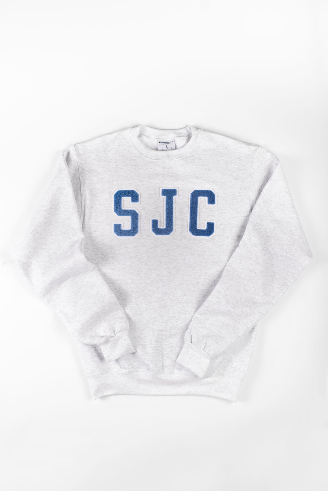 Champion Crew Neck Sweater with Vintage SJC Patches