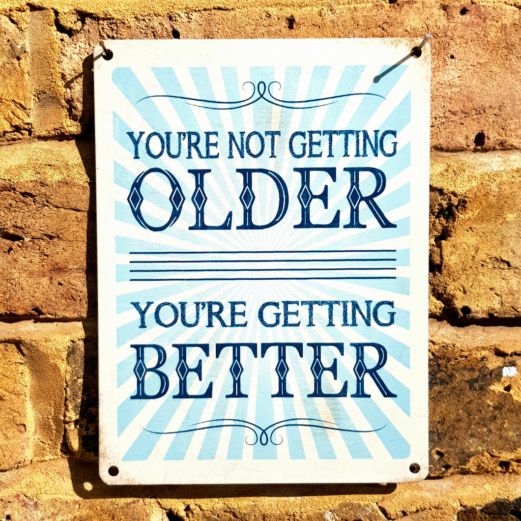 You are not getting older...