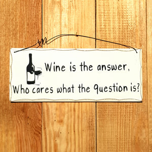 Wine is an answer
