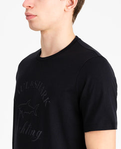 T-shirt with tone-on-tone logo