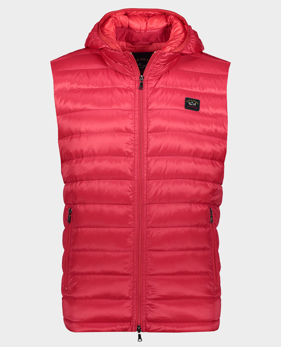 Ultralight down vest with detachable hood