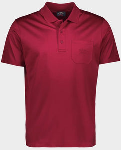 Organic cotton polo with pocket and tone-on-tone embroidered logo