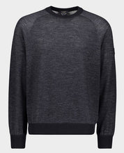 Load image into Gallery viewer, Wool and Tencel Crewneck With Iconic Badge