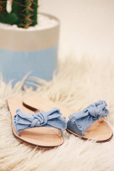 Frayed Denim Sandals
