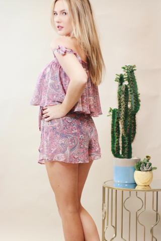 Show Me Your Mumu Great Wrap Short - Blushing Paisley