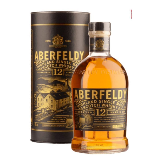 Aberfeldy 12 Anni Highlands Single Malt Scotch Whisky 70cl (5079947935879)