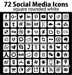 1152 Vector Social Media Icons Pack in 16 great collections