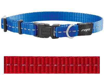Rogz for dogs nitelife halsband rood 11 mmx20-32 cm