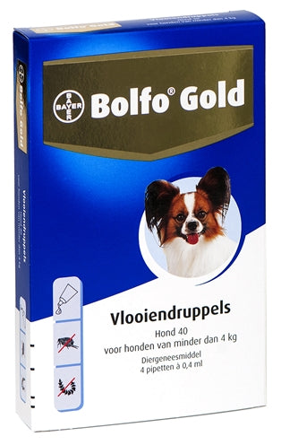 Bolfo gold hond vlooiendruppels  40 2 pipet