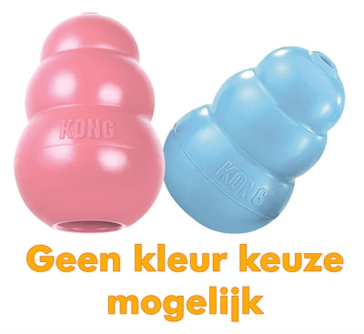 KONG puppy roze of blauw assorti medium