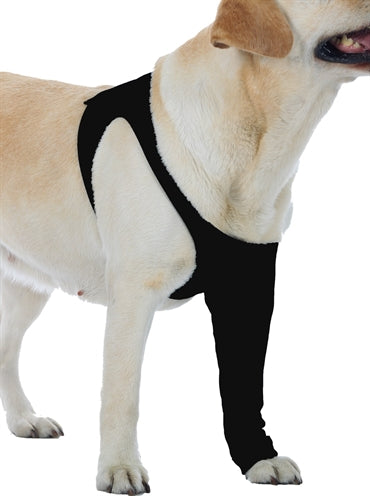 Suitical recovery sleeve hond zwart l 64-84x35 cm