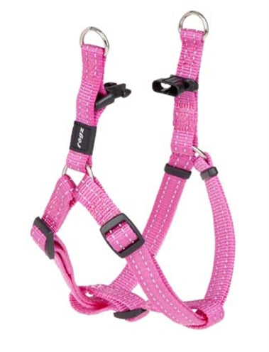 Rogz for dogs snake step-in tuig roze 16 mmx42-61 cm