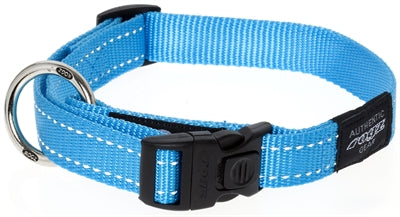 Rogz for dogs fanbelt halsband turquoise 20 mmx34-56 cm