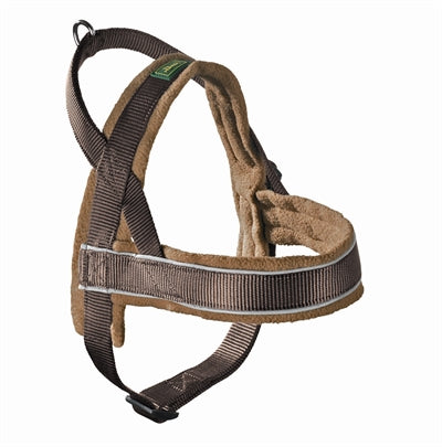 Hunter harnas norweger racing nylon bruin/cognac large 62-75x2,5 cm