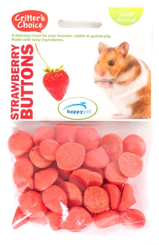Critter's choice strawberry buttons 40 gr