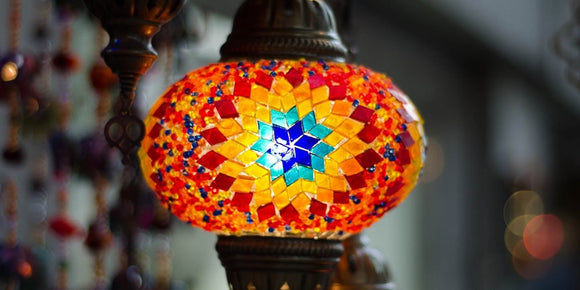 turkish globe lamp