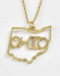 OHIO STATE LOVE NECKLACE