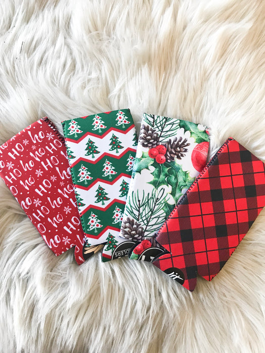 HOLIDAY SLIM CAN KOOZIES- 4 DESIGNS