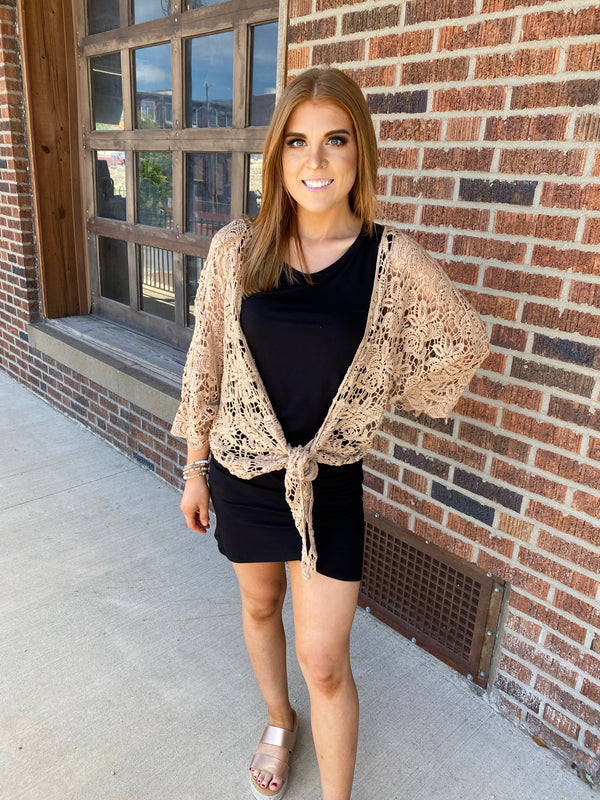 CROCHET CARDIGAN- 3 COLORS