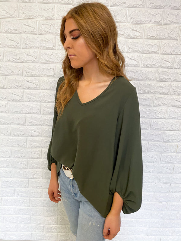 WONDERFUL WORLD OLIVE TOP