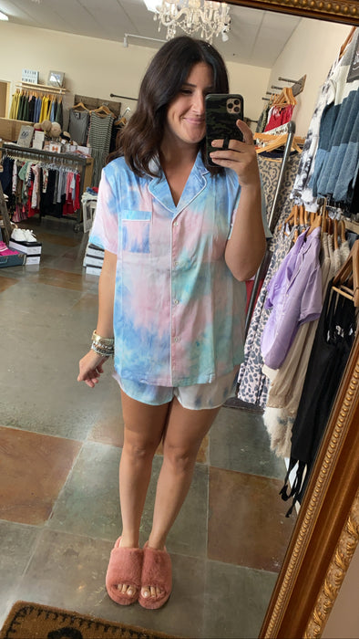 SLEEPY HEAD- TIE DYE PJ SET