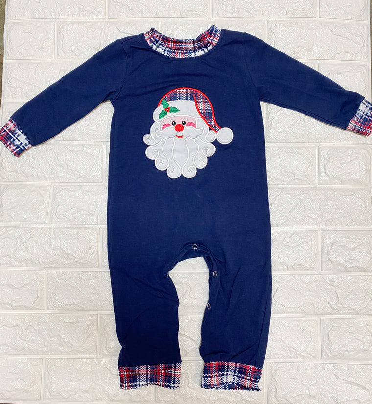 SANTA APPLIQUE ROMPER