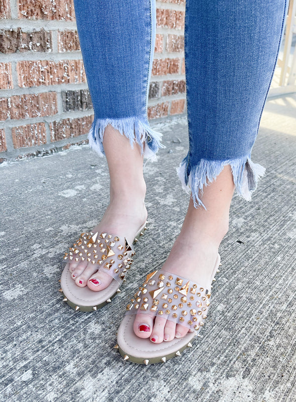GOLDEN SPIKE SANDALS