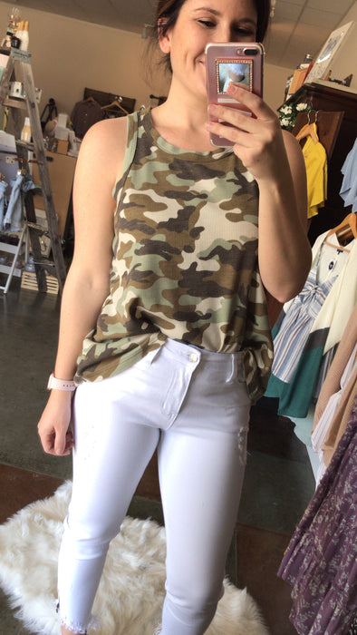 THIS GIRL CAMO TANK TOP