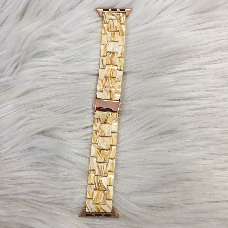 CREAM SHELL WATCH BAND