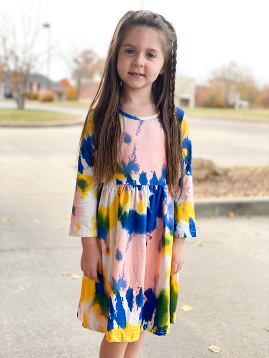 TODDLER TIE DYE DRESS