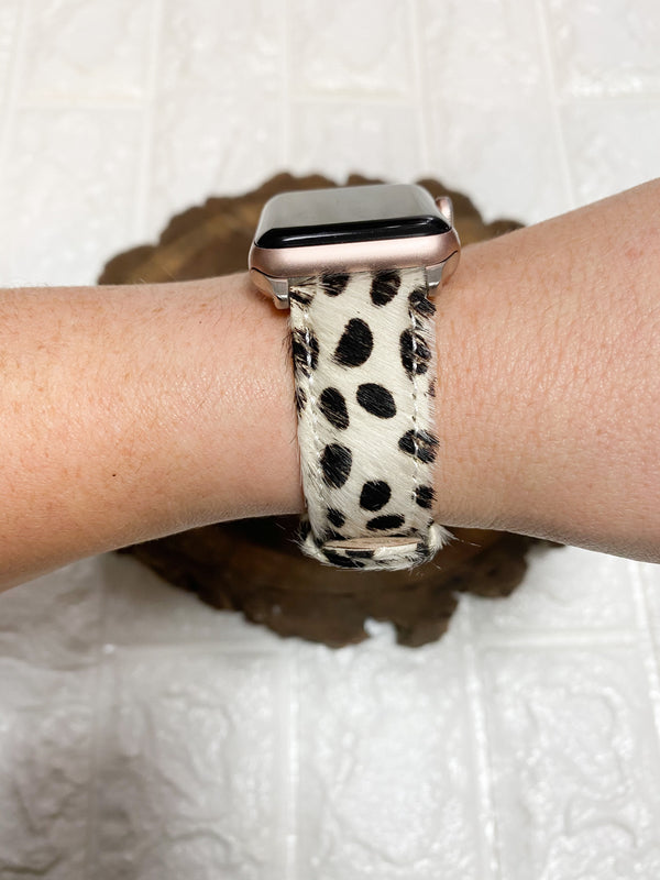 FUR DALMATIAN PRINT WATCH BAND