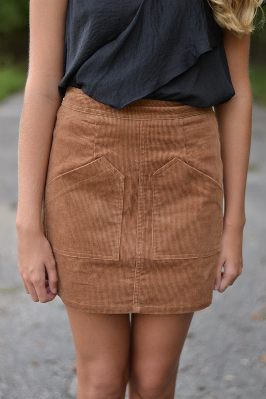 WITHOUT YOU CORDUROY SKIRT
