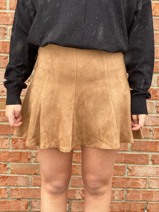 YOUR BEST BASIC SKIRT- CAMEL