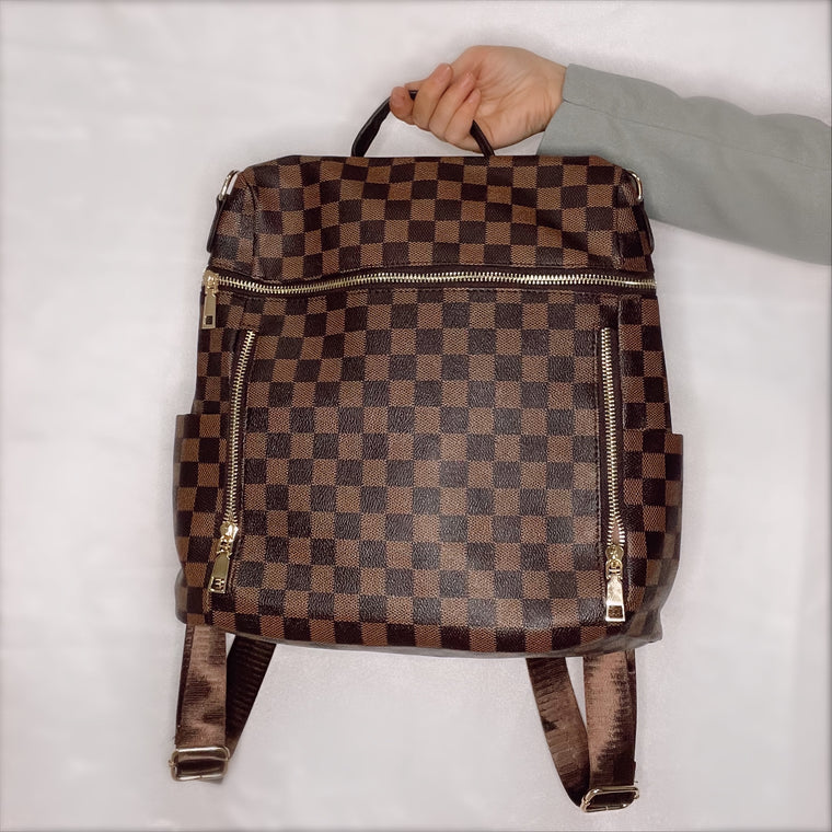 INSPIRED CHECKERED BACKPACK