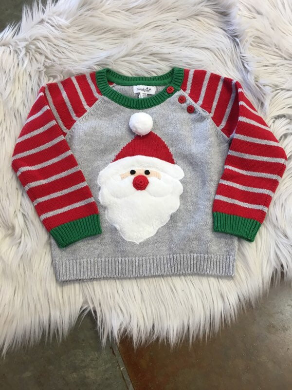GRAY SANTA SWEATSHIRT
